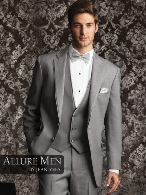 Allure Men Heather Grey Bartlett Tuxedo