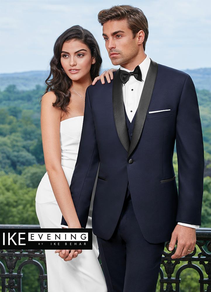 Ike Behar Evening Navy Hudson Tuxedo | Luxury Tux